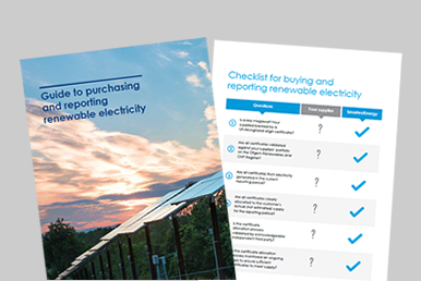 Guide to purchasing and reporting renewable electricity