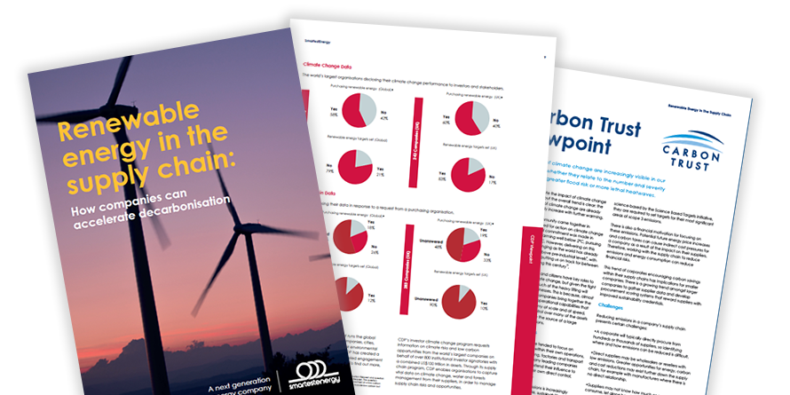 Renewable energy in the supply chain report