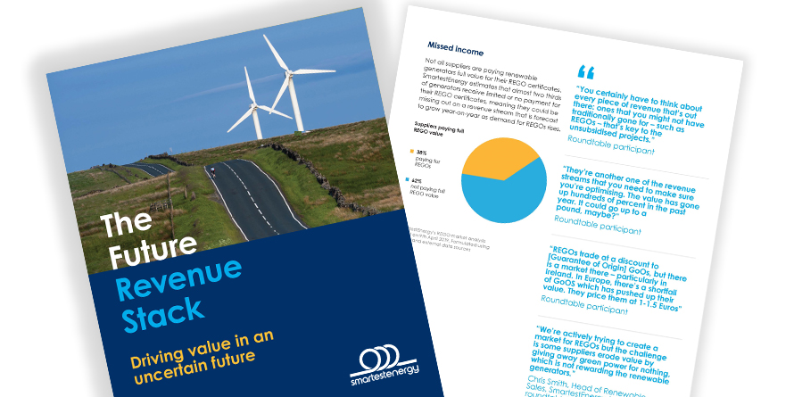 New report reveals renewable projects could lose £15 per MWh due to regulatory changes